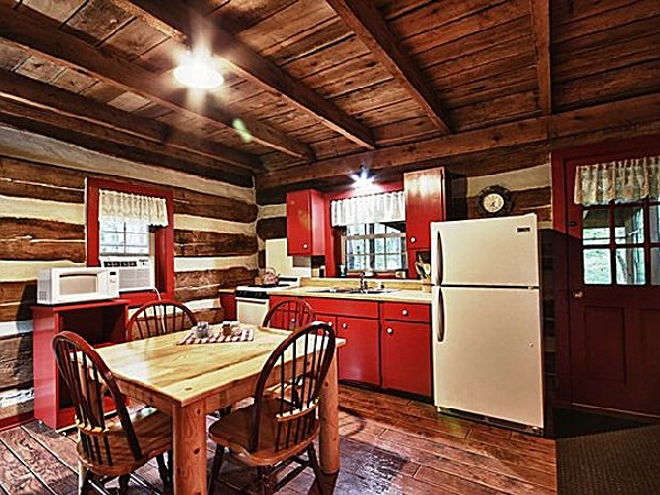 Red Log Cabin