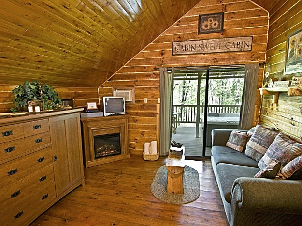 One Room Log Cabin With Hot Tub. The Sunflower Is Located Over The Hill At  Our Main Location And Nestled Back Overlooking The Woods And Feels Very  Private.